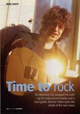 Waterboys Mike Scott UK 'Guitarist' Interview Clipping