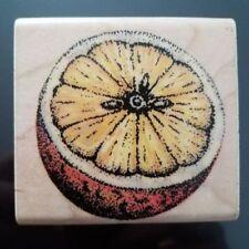 """Rubber Stampede ' Orange'  2""""X 2 3/8"""" Rubber Stamp Fruit Food Scrapbook ST25"""
