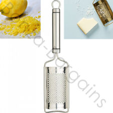 NEW STAINLESS STEEL GRATER NUT LEMON CARROT ORANGE ZESTER PARMESAN CHEESE GRATER