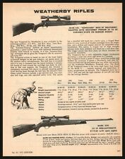 1972 Weatherby 30/06 Varmintmaster and Mark Xxii Rifle Print Ad