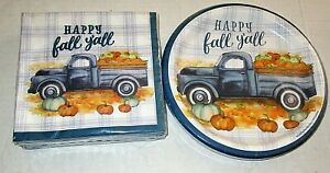 FALL LUNCHEON Paper Plates and Napkins   HAPPY FALL Y'ALL