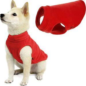 Refurbish Gooby Stretch Fleece Vest Dog Sweater Warm Pullover Fleece Dog Jacket
