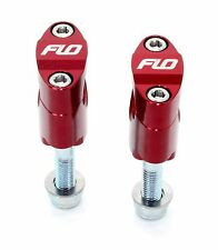 "Flo  RED Rubber Mount Fat 1 1/8"" 28.5mm Oversize Handlebar Clamp Bar Mounts"