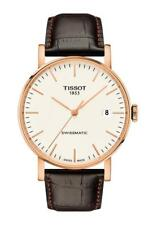 T109.407.36.031.00 Tissot Everytime Swissmatic White Dial Brown Band Watch