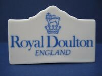 Royal Doulton China Advertising Display Sign Plaque Shop Dealer Point of Sale