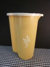 `Vintage Tupperware 1960s Harvest Gold JUG PITCHER with flip lid Juice Water