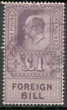 Edward VII - £1 Lilac  - Foreign Bill - USED