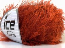 Copper Eyelash Yarn Ice Rust Orange-Brown Fun Fur 50 gram 22758