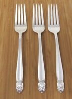 Holmes & Edwards Danish Princess Dinner Forks Inlaid Silverplate Set of 3 Lot IS