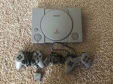Sony PlayStation 1 Gray Video Game Console NTSC - (SCPH-7501) 2 Controllers