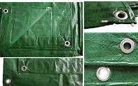 GREEN HEAVY DUTY WATERPROOF TARPAULIN TARP GROUND SHEET LIGHT WEIGHT CAMPING