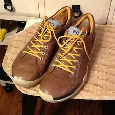 ECCO MENS Biom Yak Leather Lace Up Shoes Sneakers Brown Sz 45/ US Sz11/11.5M