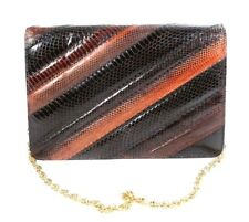 Saks Fifth Avenue Multi Colored Vintage Purse Handbag Clutch Envelope Shoulder
