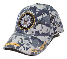 United States Navy Digital Camouflage Dual Logo Adjustable Military Cap Hat