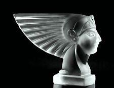 Art Deco Glass Car Mascot Hood Ornament Figurine 1930' H.Hoffmann