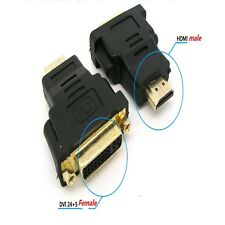 5 x DVI-I 24+5 Female to HDMI Male Adaptor Converter Gold Plated for Monitor TV