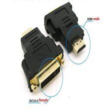 5 X DVI-I 24+5 A HDMI MASCHIO Donna Adattatore Convertitore Video placcato oro per Monitor TV