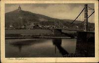 Porta Westfalica ~1920/30 Fluß Weser Weserbrücke Kaiser Wilhelm Denkmal Bauwerk