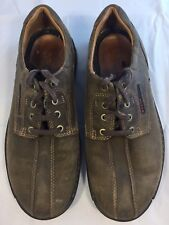 ECCO Men's Fusion Casual Oxford Brown Leather Shoes Sz 41 US 7-7.5
