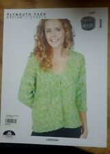 Sale! Rare Knitting Pattern: Cardi By Plymouth (s - 2x)