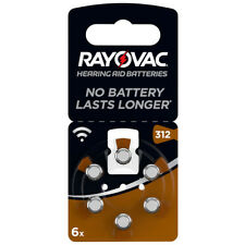 30x Hörgeräte-batterie Typ 312 Acoustic Spezial VARTA Rayovac