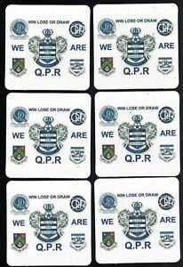 QUEENS PARK RANGERS F.C. Pack Of Old Crest's Coasters / Beer Mats FREE POST UK