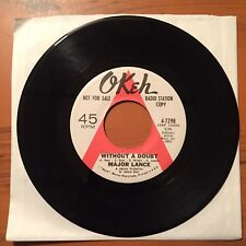 MAJOR LANCE Without A Doubt 45 Original 1967 PROMO Northern Soul STRONG VG+ Okeh