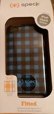 NEW! Speck Fitted Blue/Black Plaid CHECKERS iPod Touch 4 Case FAST FREE SHIPPING