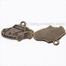 75x 144290 Wholesale Vintage Bronze Car Charms Alloy Pendants Findings Lots