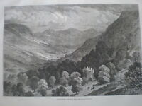 Strathpeffer Ross-Shire from the Highland railway 1875 old print Scotland