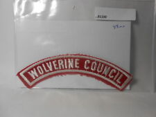 WOLVERINE COUNCIL RED & WHITE STRIP B1100