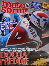 Motosprint 24 1983 Morte di Ruttimann: accusa soccorsi. Prova Suzuki 400 [Q77]