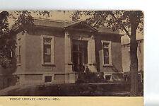 "Vintage Post Card - GENEVA OHIO -""Public Library"" Used"