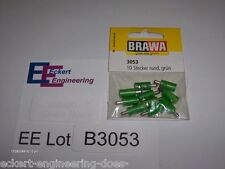 EE B3053 NEW Brawa Green Grun Plugs for Maerklin Märklin Marklin Pk/10 B 3053