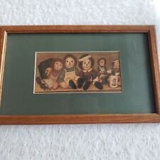 Raggedy Ann & Andy Matted Picture Wood Framed Art