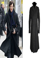 Sherlock Holmes Benedict Cumberbatch Classic Cape Wool Long Coat Costume Jacket