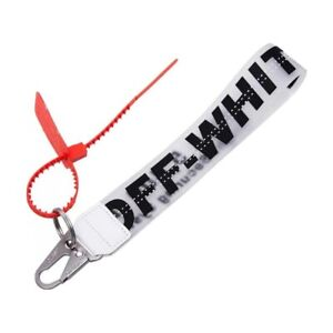 Black Off White Inspired Industrial Clear Keychain Lanyard - FREE SHIPPING!!!
