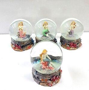 Little Mermaid Waterballs Snow Globe Glitters 4 Different Mermaid Styles