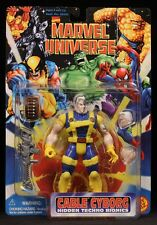 "1996 TOYBIZ MARVEL UNIVERSE X-FORCE CABLE CYBORG TECHNO BIONICS 5"" FIGURE MOC"