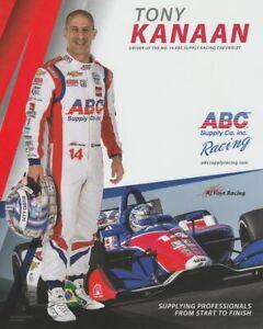 2019 Tony Kanaan ABC Supply Chevy Dallara Indy Car postcard