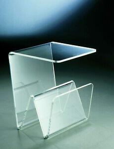 Beistelltisch - Zeitungstisch aus Acrylglas - Material Acryl - transparent klar