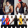Men's Muscle Hoodie Tank Top Gym Workout Sleeveless Vest T-shirt Bodybuilding