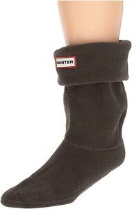 Hunter 175278 Womens Fleece Original Short Boot Socks Dark Olive Size Medium
