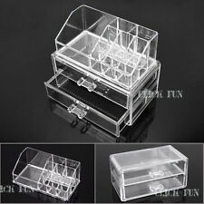 Clear Makeup Jewellery Organizer Display Cosmetic Storage Case Drawers Holder OZ