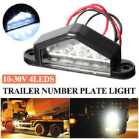4 LED Car License Number Plate Light Tail Rear Lamp for Truck Trailer Lorry Van