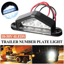 4 LED License Number Plate Light Lamp Bulb For Lorry Truck Van Trailer 12/24V