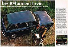 PUBLICITE ADVERTISING 095  1978  PEUGEOT 304 LE BREAK GL  (2p)
