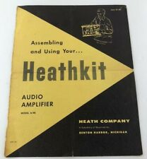 Heathkit Audio Amplifier Assembly Manual Cover Heath Co. Model A-9B COVER ONLY