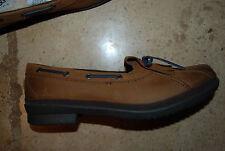 New Dark Brown Leather & Sheepskin UGG AUSTRALIA TopSider Style Shoes Lady 11