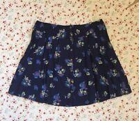 M&S INDIGO Purple Mix Floral Print BOHO Button Mini Skirt ~ Sz 12 14 18~ BNWT